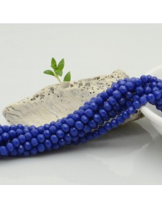 Filo mezzo cristallo Rondelle Cipollotti 3x4 mm briolette col blu 125 a 145pz per le tue creazioni