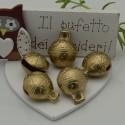 Campane Ciondoli in ottone Campanellini Sonaglio oro misura varia per le tue creazioni