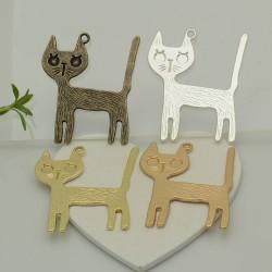 GATTI gatto Ciondoli Animali 1pz 36 X 40mm per bigiotteria per le tue creazioni