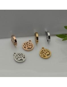 ciondolo albero della vita in acciaio inox inossidabile 9 X 10.50 mm liscio per le tue creazioni