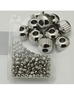 maxi confezione PALLINA RIGATO in acciaio misura varia per fai da te