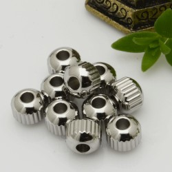 Distanziatori a palline in acciaio rigato 3 mm 4 mm 5 mm idea per bracciale fai da te
