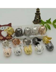 Copri perla a forma fiore 14 x 16 mm in ottone 1 pz per le tue creazioni