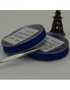 20 mt FILO PER ALL'UNCINETTO col blu collana bracciali e orecchini spessore 0.6 mm per fai da te