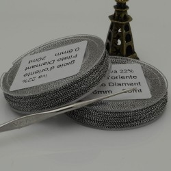 20 mt FILO PER ALL'UNCINETTO col argento rodio collana bracciali e orecchini spessore 0.6 mm per fai da te