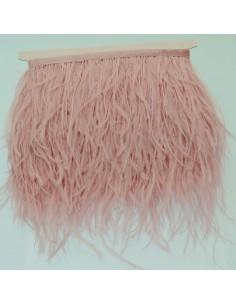 nappe piuma di struzzo Fringe piuma di struzzo altezza 16cm col rosa lilla