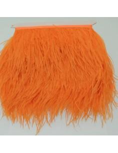 nappe piuma di struzzo Fringe piuma di struzzo altezza 16cm col arancione