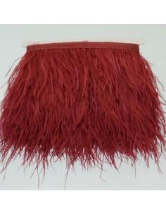 nappe piuma di struzzo Fringe piuma di struzzo altezza 16cm col bordò chiaro