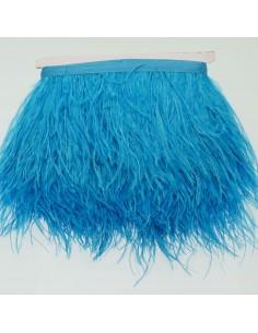 nappe piuma di struzzo Fringe piuma di struzzo altezza 16cm col turchese prezzo di confezione 20cm 20cm