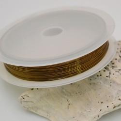 Filo in ottone diametro colore bronzo 0.6 mm 4 metri per tuo creazione