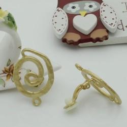 Base orecchini in Zama a Clip col oro 20 x 29 mm per orecchini per fai da te