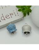 ciondoli campanella con Strass zircone 10 x 14 mm in rame per le tue creazioni