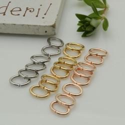20 pz Anellini ovale aperti in acciaio filo 0.8 mm dimensione 5 x 7 mm fai da te