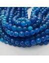 pietra dure agata tondo sfaccettata blu filo 39 cm per i tuoi gioielli