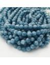 pietra dure agata tondo sfaccettata azzurro 8 mm 48 pz 39 cm per i tuoi gioielli