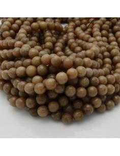 pietra dure agata tondo sfaccettata tortora scuro filo 39 cm per i tuoi gioielli