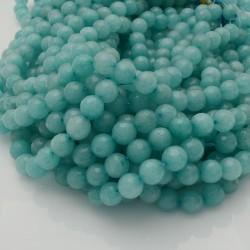 pietra dure agata tondo sfaccettata verde chiaro filo 39 cm per i tuoi gioielli
