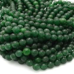 pietra dure agata tondo sfaccettata verde 8 mm 48 pz 39 cm per i tuoi gioielli