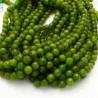 pietra dure agata tondo sfaccettata verde 6 mm 65 pz 39 cm per i tuoi gioielli