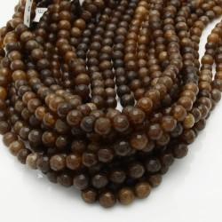 pietra dure agata tondo sfaccettata marrone 6 mm 65 pz 39 cm per i tuoi gioielli