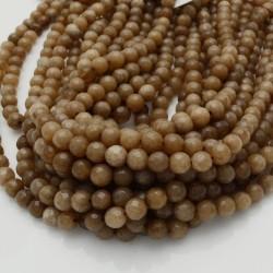 pietra dure agata tondo sfaccettata marrone chiaro 39 cm per i tuoi gioielli