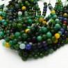 pietra dure agata tondo sfaccettata verde mix 6 mm 65 pz 39 cm per i tuoi gioielli