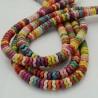 filo pietre Howlite tinti forma rondelle 8 mm zucca circa filo 40 cm per fai da te per i tuoi gioielli