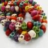 filo pietre Howlite tinti forma teschio 10 X 13 mm circa filo 40 cm per fai da te per i tuoi gioielli