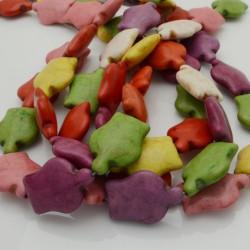 filo pietre Howlite tinti forma tartaruga 19 x 25 mm circa filo 40 cm per fai da te per i tuoi gioielli
