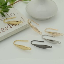 monachelle in acciaio forma gocce placato oro piatta 19 mm 4 pz per fai da te per bigiotteria