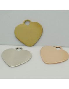ciondolo grande cuore in acciaio inox inossidabile 24 mm liscio per le tue creazioni