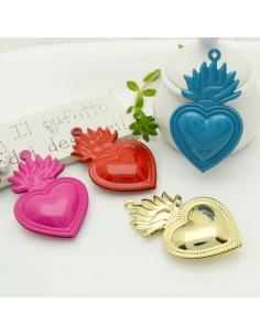 sacro cuore ciondolo 30 x 50 mm in ottone per i tuoi creazione alla moda !!!