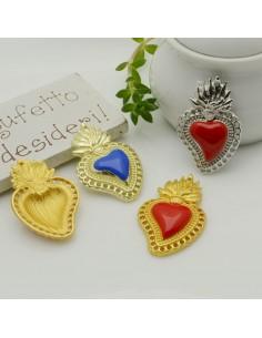 sacro cuore ciondolo 20 x 30 mm con fori in ottone per i tuoi creazione alla moda