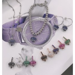 campanella zirconi in argento 925 collana Ciondolo bracciale orecchini le principesse