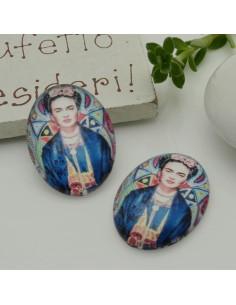 1 pz Frida Kahlo Cabochon in resina 18 x 25 mm per orecchini tue le creazioni