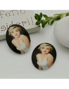 1 pz marilynmonroe Cabochon in resina 18 x 25 mm per orecchini tue le creazioni