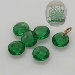 maxi confezione ciondoli zircone doppio sfaccettato col Verde 4 mm con foro alto per fai da te