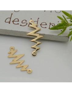 ciondolo Connettori Fulmine oro chiaro con 2 fori 11 x 21 mm in ottone per le tue creazioni