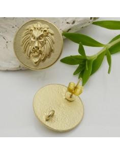 base Orecchini a perni rotonda Tigre 19 mm in zama per i tuoi orecchini alla moda