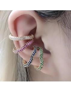Orecchini Cuore ear cuff orecchini forma cuore con zirconi 20 mm