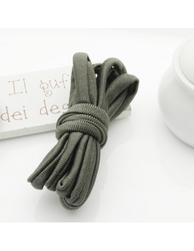 Fettuccia elastica tubolare elastica in Lycra colore verde scuro 0.5 mm confezione 1 mt