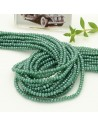 filo cristalli 2 x 3 mm colore verde AB sfaccettato e briolette 200 pz per le tue creazioni