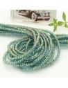 filo cristalli 2 x 3 mm colore azzurro ab sfaccettato e briolette 200 pz per le tue creazioni