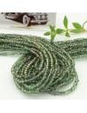 filo cristalli 2 x 3 mm colore cola Verde mix sfaccettato e briolette 200 pz per le tue creazioni