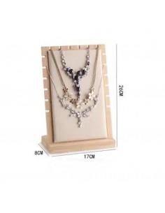 Collo per collana Espositore porta collana 17 x 28 cm colore panna vetrina Gioielli Bigiotteria