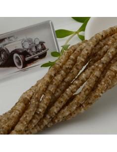 fili Rondelle Pasta Polimerica col beige sfumato 1 x 5.3 mm 39/40 cm Polimero Perline Heishi per le tue creazione