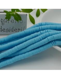 fili Rondelle Pasta Polimerica col azzurro 1 x 6 mm 39/40 cm Polimero Perline Heishi per le tue creazione