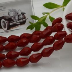 goccia cristalli cinese briolette sfaccettata 8 x 12 MM col rosso filo 30 pz per orecchini collana
