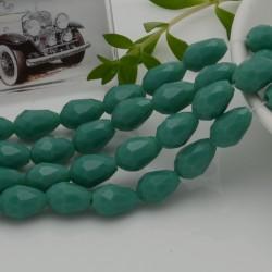 goccia cristalli cinese briolette sfaccettata 8 x 12 MM col tiffany filo 30 pz per orecchini collana per le tue creazioni