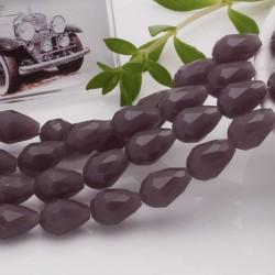 goccia cristalli cinese briolette sfaccettata 8 x 12 MM col Malva chiaro filo 30 pz per orecchini collana per le tue creazioni